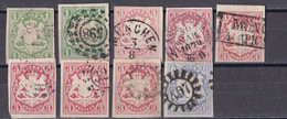 Altdeutschland Bayern 1867 - Mi.Nr. 14 - 16 - Gestempelt Used - Bavaria