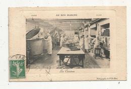 Cp, 75 , PARIS , Commerce ,grand Magasin AU BON MARCHE ,les Cuisines, Voyagée 1911 - Negozi