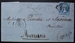 Luçon 1866 Gc 2116 J. Rouchy Jeune Lettre Pour Marans - 1849-1876: Période Classique