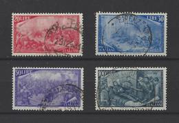 ITALIE.  YT   N° 526/529  Obl  1948 - 1946-60: Afgestempeld