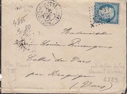 LETTRE. 3 NOV 75. N0° 60. VOUNEUIL-S-VIENNE. VIENNE. GC 4329. POUR DRAGUIGNAN - 1849-1876: Période Classique