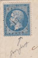 LETTRE. 16 AOUT 67. N° 22 VARIETE GROS POINT - 1849-1876: Période Classique