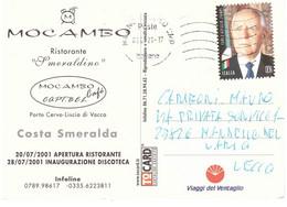 2020 TARIFFA B CARLO AZEGLIO CIAMPI CARTOLINA COSTA SMERALDA MOCAMBO - 2011-...: Marcophilie