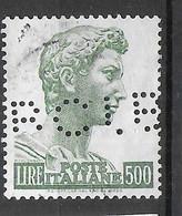 1957-1974 - PERFIN - ( R C I. B) ( NON CATALOGATO) SU SAN GIORGIO LIRE 500 - 1946-60: Afgestempeld