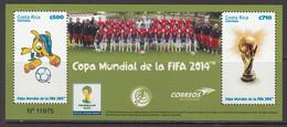 2014 Costa Rica World Cup Football  Souvenir Sheet MNH - Costa Rica