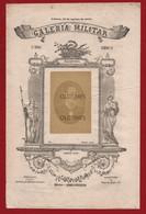 """PORTUGAL - LISBOA - """"GALERIA MILITAR """" - MARINHA - ROBERTO IVENS - COM FOTOGRAFIA ORIGINAL - 1879 - Advertising"""