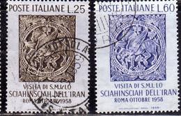 ITALIA  REPUBBLICA ITALY REPUBLIC 1958 SCIA' DI PERSIA SERIE COMPLETA COMPLETE SET USATA USED OBLITERE' - 1946-60: Afgestempeld