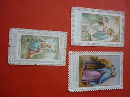 GROS LOT D'IMAGES PIEUSE HOLY CARD 23 EN CELLULOIDE 11 CANIVETS 12 FAIRE PART ET 50 IMAGES DIVERSES TOUT EST EN PHOTOS - Religion & Esotericism