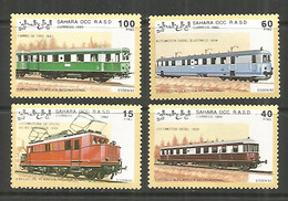 Sahara 1992 Mint Stamps MNH (**) Trains Locomotive - Trains