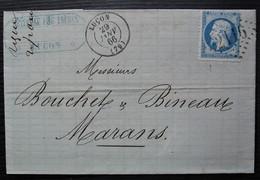 Luçon 1866 Gc 2116 Météreau Fils Frères Lettre Pour Marans - 1849-1876: Période Classique