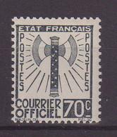FRANCE : SERVICE FRANCISQUE . N° 5 ** . LUXE . CERTIFICAT SCHELLER . 1943 . ( CATALOGUE YVERT ) . - Nuovi