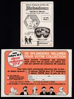 Tintin : Lot De 5 Publicités TINTIN De 1975 ( Voir Photos ). - Advertising