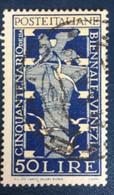 1949 - Italia - Cinquantenario Della Biennale Di Venezia - Lire 50 - A1 - 1946-60: Afgestempeld