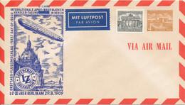 BERLIN  - 1954  ,  4 Pf. Bauten Ausstellungshallen Am Funkturm ,  INTERNATIONALE APHV ... -  Privatumschlag  -  PU2 / 3c - Privatumschläge - Ungebraucht