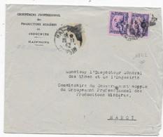 Lettre INDOCHINE  HAIPHONG P / HANOI Novembre 1942  Bonne Date - Briefe U. Dokumente