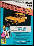 Tintin : 1 Publicité Pour Le Grand Concours Tintin Pour Son 30ème Anniversaire ( Voir Photos ). - Advertising