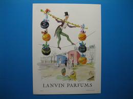 (1959) LANVIN PARFUMS - 6 Parfums Présentés Par Le Fildefériste (document N° 1/16) - Advertising