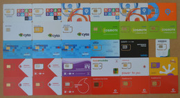 Greece - Lot Of 30 Different Various Companies GSM Cards, All Mint - Griekenland