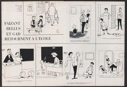 Pub Papier 1964 Double Page Humour Illustrateurs Bellus Faizant Et Gad Retour A L'école écolier Professeur - Advertising