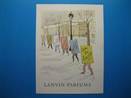 (1951) LANVIN PARFUMS - 6 Parfums Présentés Par Les Hommes-sandwichs (document N° 2/16) - Advertising
