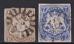 Altdeutschland Bayern 1868 - Mi.Nr. 20 - 21 - Gestempelt Used - Bavaria
