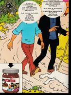 Tintin : 1 Poster Avec Les Personnages De Tintin Sans Visages Proposer Par Nutella En 1978 ( Voir Photos ). - Advertising