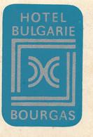 STS061 - STICKER ADES. HOTEL BULGARIE Di BOURGAS (Bulgaria) - Stickers