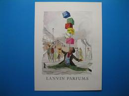 (1954) LANVIN PARFUMS - 6 Parfums Présentés Par Le Jongleur (document N° 3/16) - Advertising