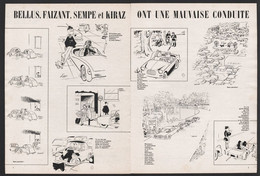 Pub Papier 1964 Double Page Humour Illustrateurs Bellus Faizant  Kiraz Et Sempé Mauvaise Conduite Voitures - Advertising