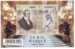 France 2012 Bloc Feuillet Le Bal Masqué France-Suède Auber Gustave III - Mint/Hinged