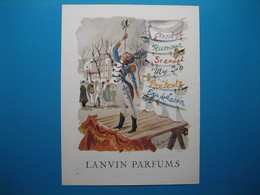 (1958) LANVIN PARFUMS - 6 Parfums Présentés Par L'avaleur De Sabre (document N° 4/16) - Advertising