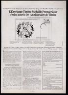 Tintin : Lot De 2 Publicités Tintin De 1979 ( Voir Photos ). - Advertising