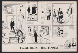 Pub Papier 1964 Double Page Humour Illustrateurs Bellus Faizant  Et Testu  Exposent Peintres Artistes - Advertising