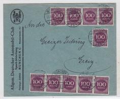 Deutsches Reich Brief Vom ADAC Mit Viel Frankatur Portorichtig In Die Ostmark - Covers & Documents