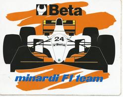 STS294 - STICKER ADESIVO BETA MINARDI F1 TEAM - Stickers