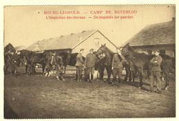 A0793[Postkaart] Bourg-Léopold. - Camp De Beverloo / L'Inspection Des Chevaux. - De Inspektie Der Paarden. (Notre Pays) - Casernes