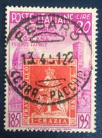 1951 - Italia - Centenario Francobolli Di Toscana - Lire 20 - A1 - 1946-60: Afgestempeld