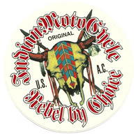 STS383 - STICKER ADESIVO INDIAN MOTO CYCLE (U.S.A.) - Stickers