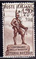 ITALIA REPUBBLICA ITALY REPUBLIC 1960 CENTENARIO NASCITA VITTORIO BOTTEGO BIRTH CENTENARY LIRE 30 USATO USED OBLITERE' - 1946-60: Afgestempeld