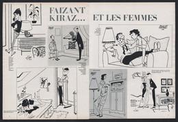 Pub Papier 1964 Double Page Humour Illustrateurs Faizant  Kiraz Et Les Femmes - Advertising