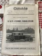 Automobile Panhard Levassor La 16 Cv 6 Cylindres  Revue Omnia 1927 - Advertising