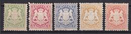 Altdeutschland Bayern 1875 - Mi.Nr. 32 - 36 - Ungebraucht Mit Gummi Und Falzresten MH - Bavaria