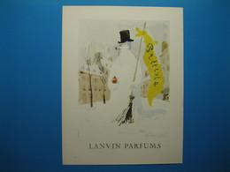 """(1956) LANVIN PARFUMS - Parfum """" Prétexte """" Présenté Par Le Bonhomme De Neige (document N° 6/16) - Advertising"""