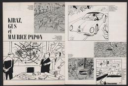 Pub Papier 1964 Double Page Humour Illustrateurs  Kiraz Gus Et Maurice Papon - Advertising