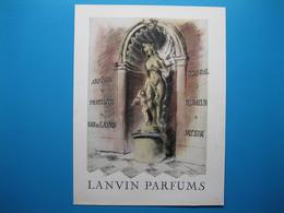 (1948) LANVIN PARFUMS - 6 Parfums Encadrant La Statue Et Son Angelot (document N° 7/16) - Advertising