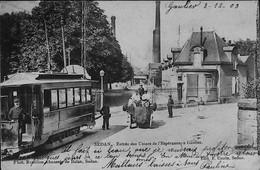 SEDAN - GAULIER -- Entrée Des Usines De L'Espérance à Gaulier - Tram En GROS PLAN - Sedan