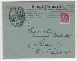 Deutsches Reich Brief Der Fa.Ernst Remane Berlin Mit EF Unterfrankiert Nach Stettin - Covers & Documents