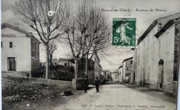 CPA  BOUCOIRAN (30) - Avenue De Nîmes - Phototypie Bardou, Sommières - BE - Sonstige Gemeinden