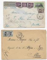 INDOCHINE 5 Lettres Et 1 Carte Entier Postal - Briefe U. Dokumente