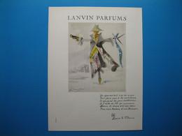 (1957) LANVIN PARFUMS - 6 Parfums Présentés Par L'épouvantail (document N° 8/16) - Advertising